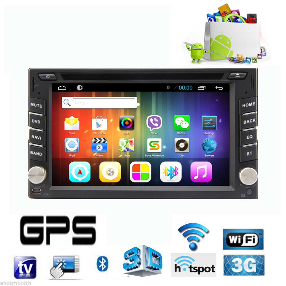 Capacitive Android 4.2 3G Wifi Car DVD GPS Navigation 2DIN Car Stereo Radio Car GPS Bluetooth USB/SD Universal Player(China (Mainland))