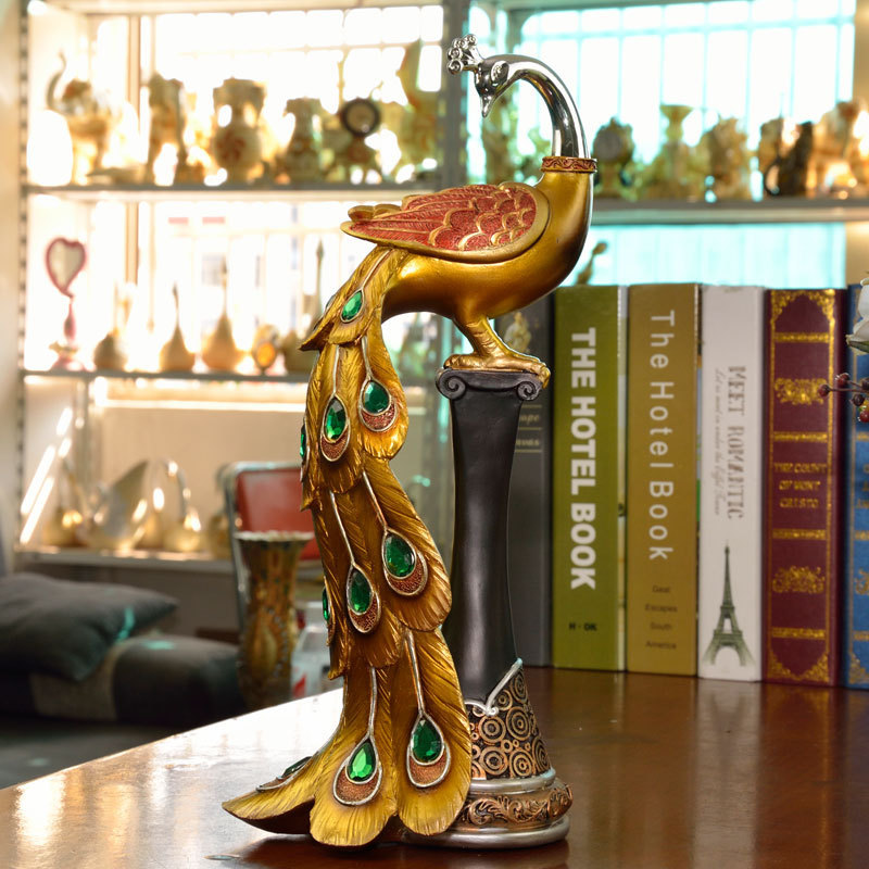 Unique Delicate Home Decor Resin Crafts Exquisite Gift Decoration Ornaments Antique Column