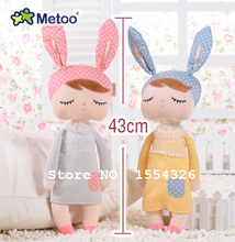 43 CM Cute Metoo Angela Dolls Bunny Baby Toy Stuffed Animal Plush Toy For Kids  Christmas birthday gift(China (Mainland))