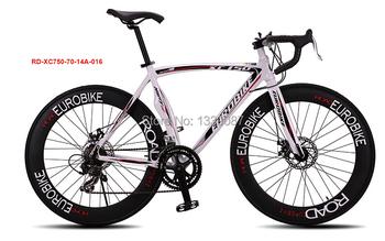 Bicicleta Скорость 14 Дорожный Велосипед 6061 Рамка Алюминиевого Сплава 700C Х 23C Колесо Bicicleta Тормозного Диска Дорожный Велосипед 70 Спицы Спустило колесо