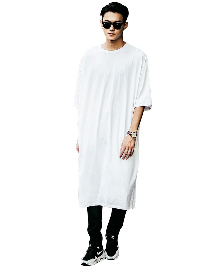 buy new fashion long line t shirt men. Black Bedroom Furniture Sets. Home Design Ideas