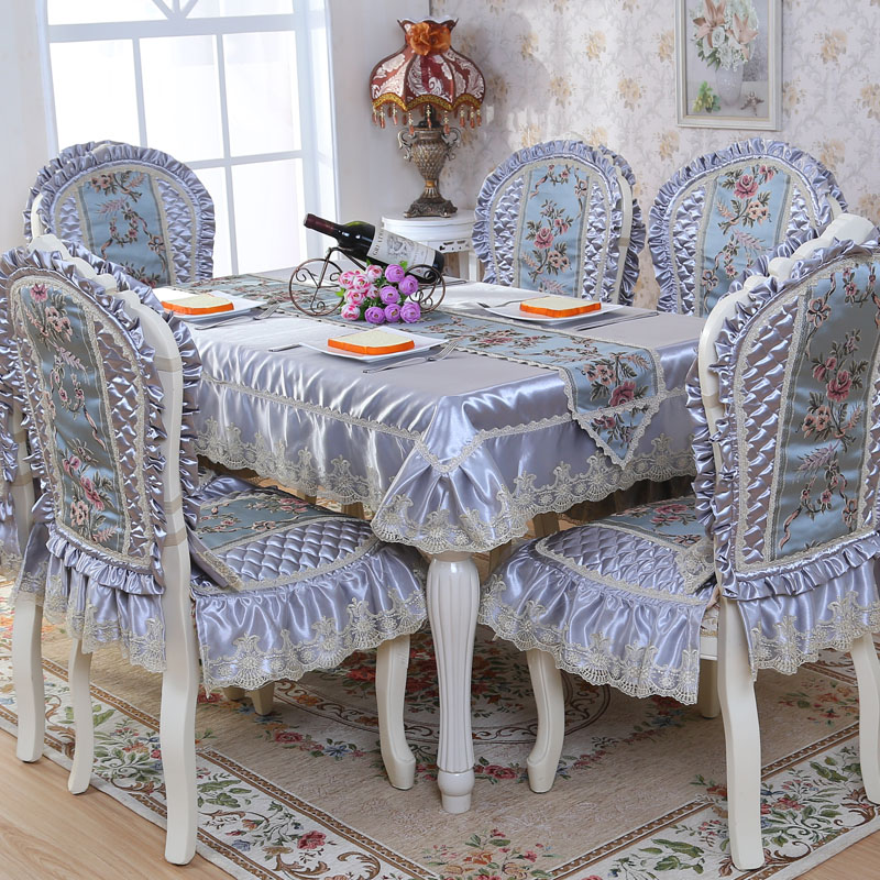 top grade quilted dining table cloth thick warm chair