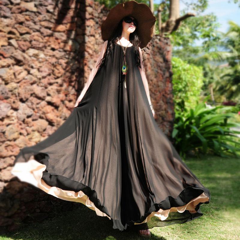 BOHOCHIC Original Bohemian Vintage Ethnic Sleeveless Women Maxi Dress Black Chiffon Plus Size Beach Summer AZ0125X Boho ChicОдежда и ак�е��уары<br><br><br>Aliexpress