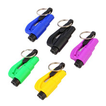 1pc Keychain Car Emergency Rescue Safety Glass Breaker Hammer Escape Tool Newest Free Shipping(China (Mainland))