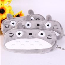 15pcs/lot Cartoon Totoro Style Plush Zipper Pencil Bags Cosmetic Bag Pouch Writing Supplies Office & School Supplies(China (Mainland))