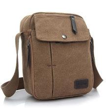 Nueva marca para hombre, bolso bandolera de lona, maletín informal de negocios, bolsos para teléfono, bolso multifunción de viaje, bandolera(China)