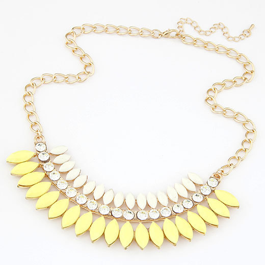 Fashion Imitated Gemstone Jewelry for Women Multilayers Drop Statement Necklaces Pendants Colar Necklace for Summer Bijoux