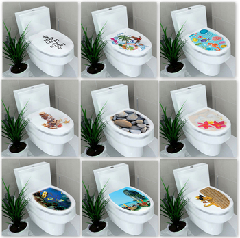 2015 New Underwater World Toilet Sticker Bathroom Wall Stickers Home Decoration Wall Decals Mixed 10 Designs