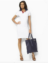 2015 slim short-sleeved cotton casual dress lady dress lapel fashion casual trendy