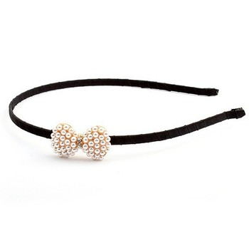2014 Min. Order $10 New Arrive Spx2869 Fashion Pearl Bowknot Bow Hair Band Headband Hairbands Delicate Accessories Jewelry Sets