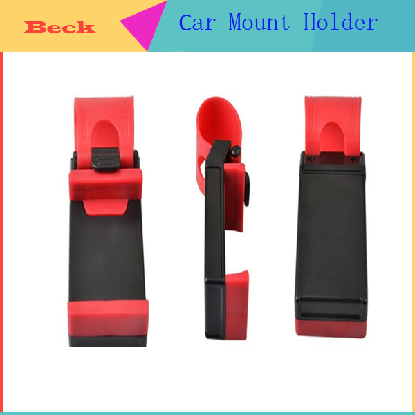 2 Car Steering Wheel Mount Holder Rubber Band iPhone iPod MP4 GPS Mobile Phone Holders BE109 - Beck store