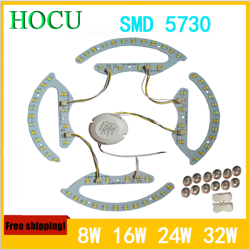 LED double color lamp SMD5730 8W*2 16W*2 24W*2 32W*2 3000K 4000K 6000K ceiling light panel lamp AC176-264V magnetic<br><br>Aliexpress