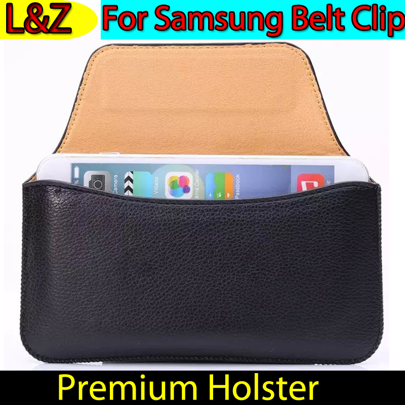 Premium Mobile Phone Wallet Carry Case Pouch Universal Belt Clip Leather Holster for Samsung Galaxy S5 S 6 5 4 3 Note4 3 2 Funda(China (Mainland))