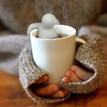 2015 Hot théière mignon boule à thé café et thé ensembles thé de Silicone cuisine outils et Gadgets utiles mignon Leaf passoire livraison gratuite(China (Mainland))
