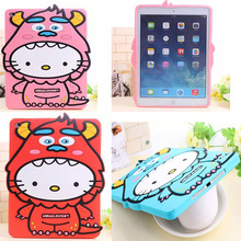 Anti-knock New silicon cartoon character tablette tablet PC for Apple iPad air 2 / 6 accessory protective back case shell cover