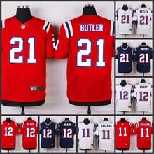 ABCNEW Elite men New England Patriots 21 Malcolm Butler 12 Tom Brady11 Julian Edelman 10 Jimmy Garoppolo C-3(China (Mainland))