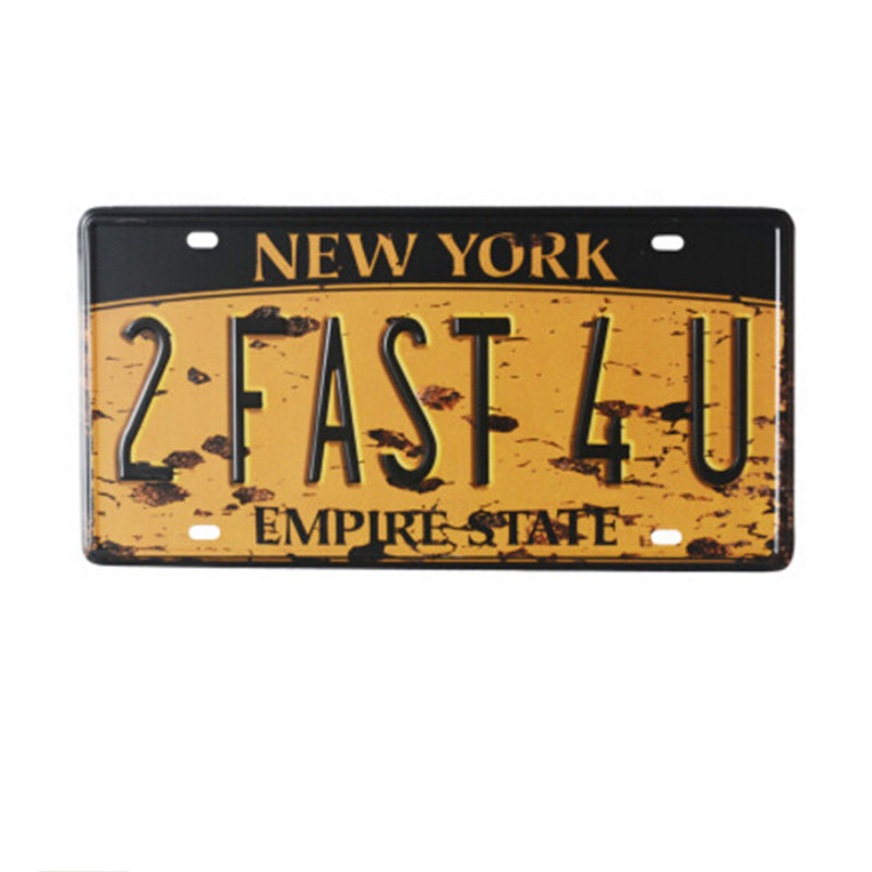 New York Empire State Vintage Home Decor 15*30 cm Vintage Car License Plate Tin sign crafts for home bar coffee(China (Mainland))