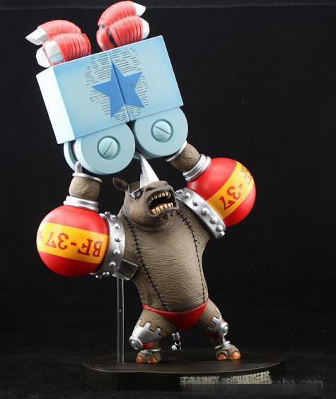 Action Figure ONE PIECE ONEPIECE FRANKY rhinoceros PVC 35cm hand to do Animation gift dolls Cartoon Collectible Model Anime(China (Mainland))