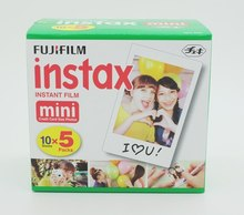 Fujifilm Instax Mini Film White Edge 5Pack 50 photo sheets for Fuji Instant Camera Fast Free Shipping(Hong Kong)