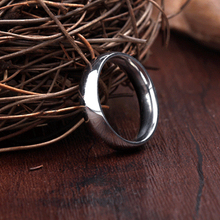 2015 new simple ring 4mm stainless steel color glossy titanium steel men's rings cheap jewelry Spherical rings