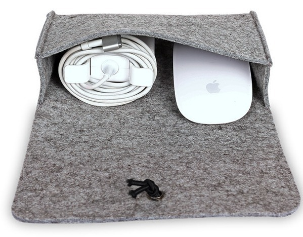 Felt For Macbook Air Pro Casual Mouse Pouch Bag Special Power Pack For Macbook Bag 13