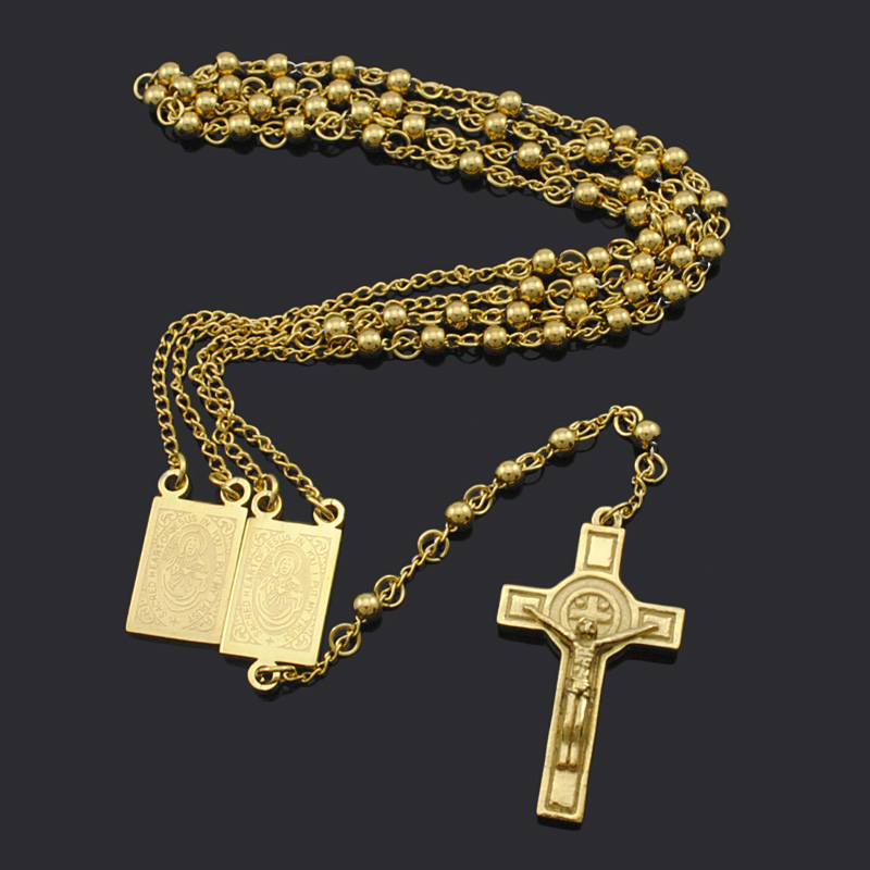 Aliexpress buy gold plated rosary beads jesus piece