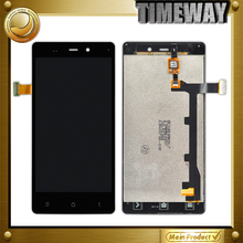 DHL 10pcs for Gionee ELIFE E6 LCD display with touch screen digitizer assembly,Black or white ,free shipping
