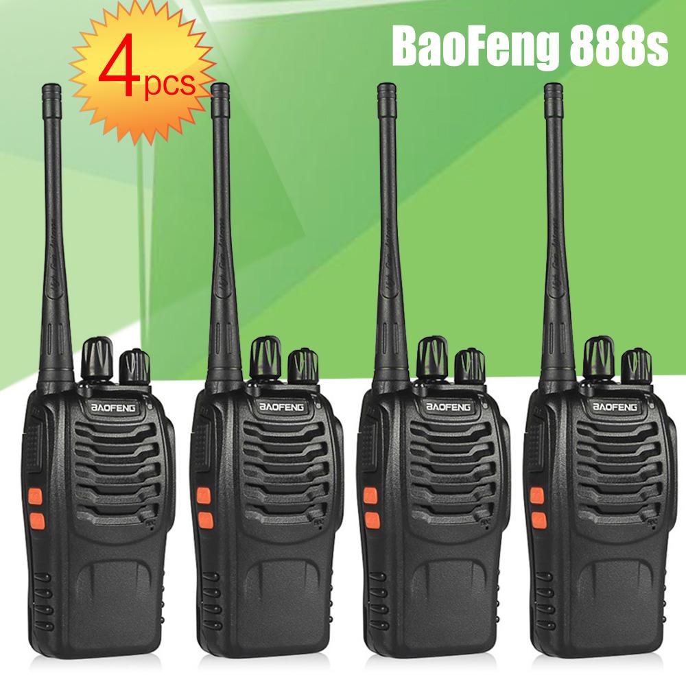 4pcs BaoFeng BF-888S UHF Rechargeable Walkie Talkies CB two Way Radio Communicator Portable Handheld Two Way Radio Transceiver(China (Mainland))
