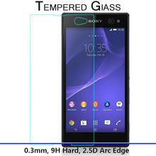Amazing 9H 0.3mm 2.5D Nanometer Tempered Glass screen protector for Sony Xperia C3 D2533 C3 Dual D2502