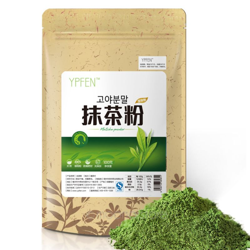 Premium 100g Japanese Matcha Green Tea Powder 100% Natural Organic Slimming Tea Reduce Weight Loss Food(China (Mainland))