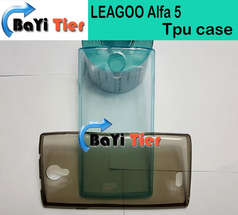 LEAGOO Alfa 5 Case High Quality TPU Back Case Protector Cover For LEAGOO Alfa 5 Smartphone With Three Colors In Stock(China (Mainland))