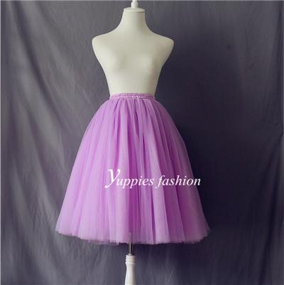8 слоя 23 дюйм(ов) женщин юбки женская взрослый миди тюль юбка бальное платье Большой ...