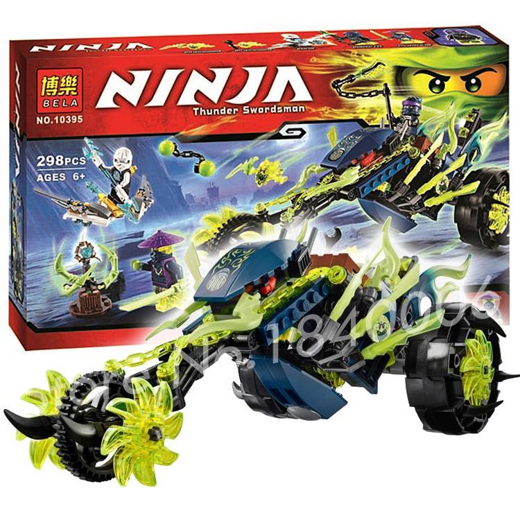 298pcs 2016 Bela 10395 phantom Ninja Chain Cycle Ambush Motor Masters toys Model Building Action Figure Compatible with Lego(China (Mainland))