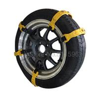 For Usual Car Yellow Universal Adjustable Auto Car SUV Snowblower Tire Snow Chains For Mug Ice With package Bag 10PCS Small size(China (Mainland))