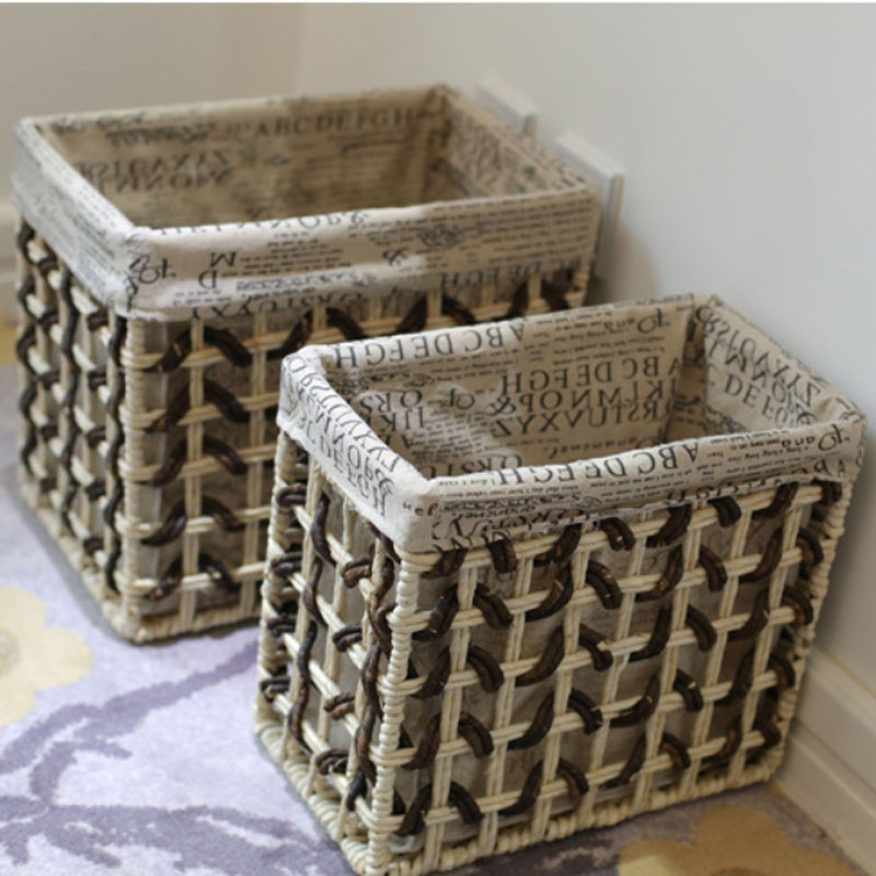 Home Storage & Organization decorative storage baskets Small large storage baskets for toys clothes dobr vel cesto de roupa suja(China (Mainland))