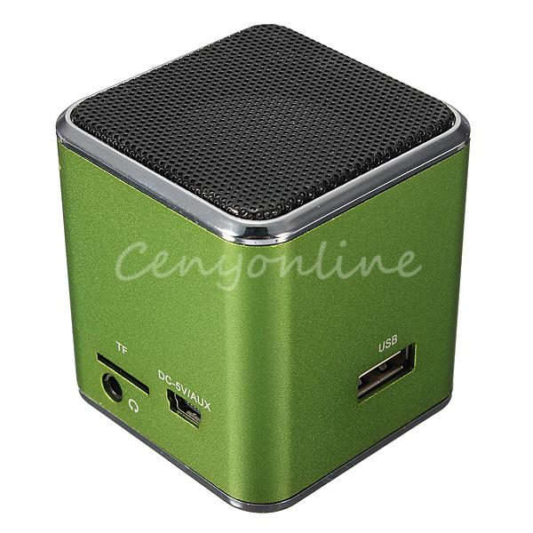 MD07U Greem USB Mini Speaker Portable FM Sound Music Box Player Digital Amplifier Reader For PSP For Notebook Computer CD(China (Mainland))