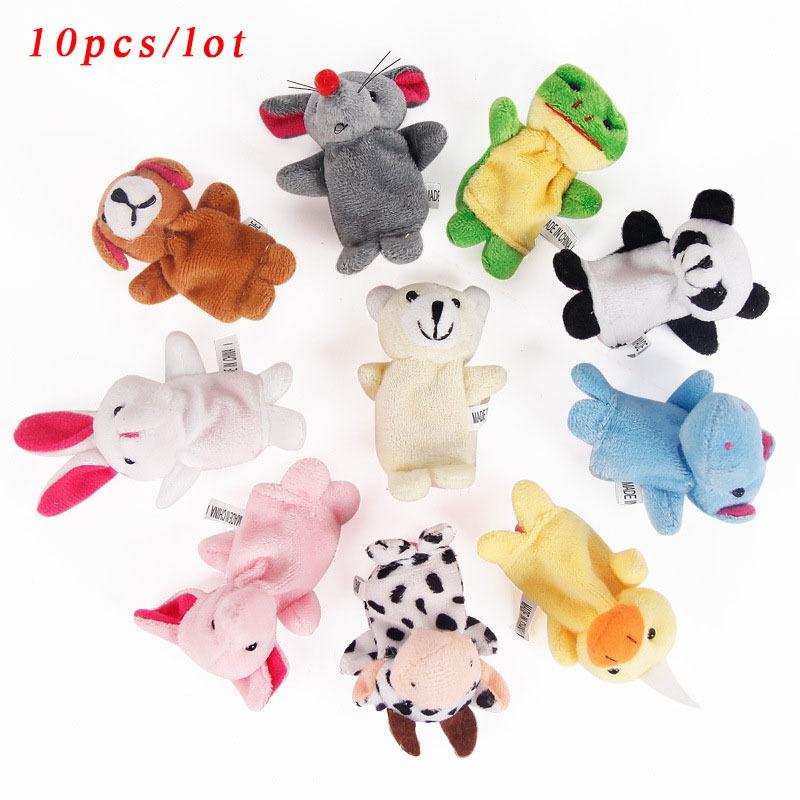 Cartoon Animal Finger Puppet 10 Pcs animal toys Baby Dolls Baby Toy Animal Doll(China (Mainland))