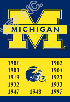 Michigan Wolverines Flag 11 Time Football Champions NCAA Flag 3ft x 5ft Polyester Banner Flying 150* 90cm Custom flag(China (Mainland))