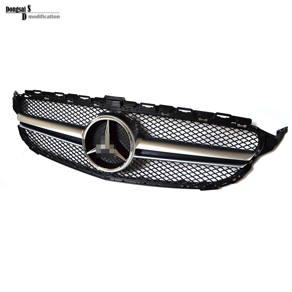 Mercedes W205 Grill 2 Fin Sporty ABS Mesh Grille fit for Benz 2015+ C Class C180 C200 C250 C350 C400 C450 C220 C250 C300<br><br>Aliexpress