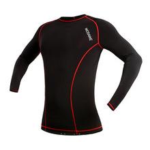 Aliexpress WOSAWE мужские сжатия базовый слой топ с длинным рукавом велосипед велоспорт джерси / работает тренажерный зал спорт рубашка