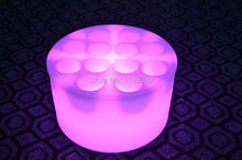Waterproof LED Light Up Serving Tray Multi Colors Rechargeable luminous floating LED swimming pool tray light
