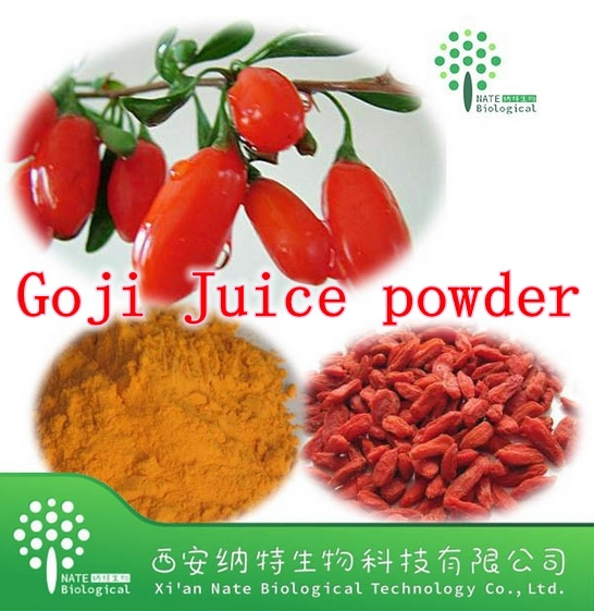 Hot sale Hight Quality 400gram Goji (wolfberry) Extract Powder 40% Polysaccharide Strong Antioxidant, Anti-aging free shipping