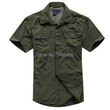 2016 Outdoor New Summer Quick Dry Tactical Shirt Men's Short Sleeve Shirts combat military Breathable Shirt Causal Clothing(China (Mainland))