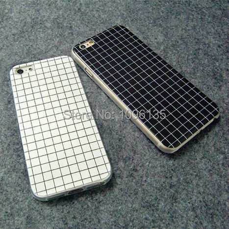 2015 Hot Item Phone Case for iPhone 5 5s 6 6Plus Checkered Square Shape Printed Luxury Silicon Protective Shell Cover Phone Bags(China (Mainland))