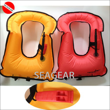 Popular ! Adult Snorkeling equipment snorkeling vest inflatable vest swimming snorkel vest with emmergency whistle(China (Mainland))