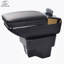 New Update 8th For KIA K2 RIO armrest box PU Leather central Store content box with cup holder products accessories 2012-2015(China (Mainland))