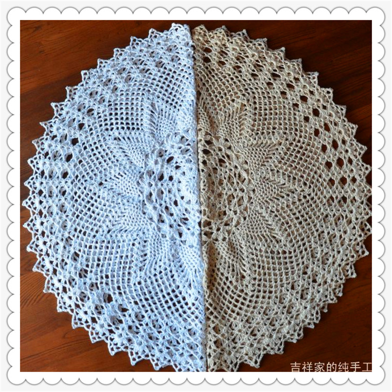 2015 new zakka fashion design cotton made lace table cloth table runner for home decor cutout towel knitted vintage pineapple(China (Mainland))