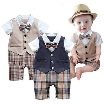 Малыш Vetement 2017 Baby Boy Комбинезон Летние Детская Одежда С Коротким Рукавом Roupas Детские Комбинезоны Новорожденных Мальчиков Одежда Наборы
