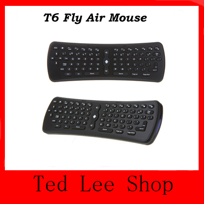 Free Shipping High Quality Best Price 2.4G Fly Air Mouse Wireless Qwerty Keyboard Remote Control for Android TV Box PC(China (Mainland))
