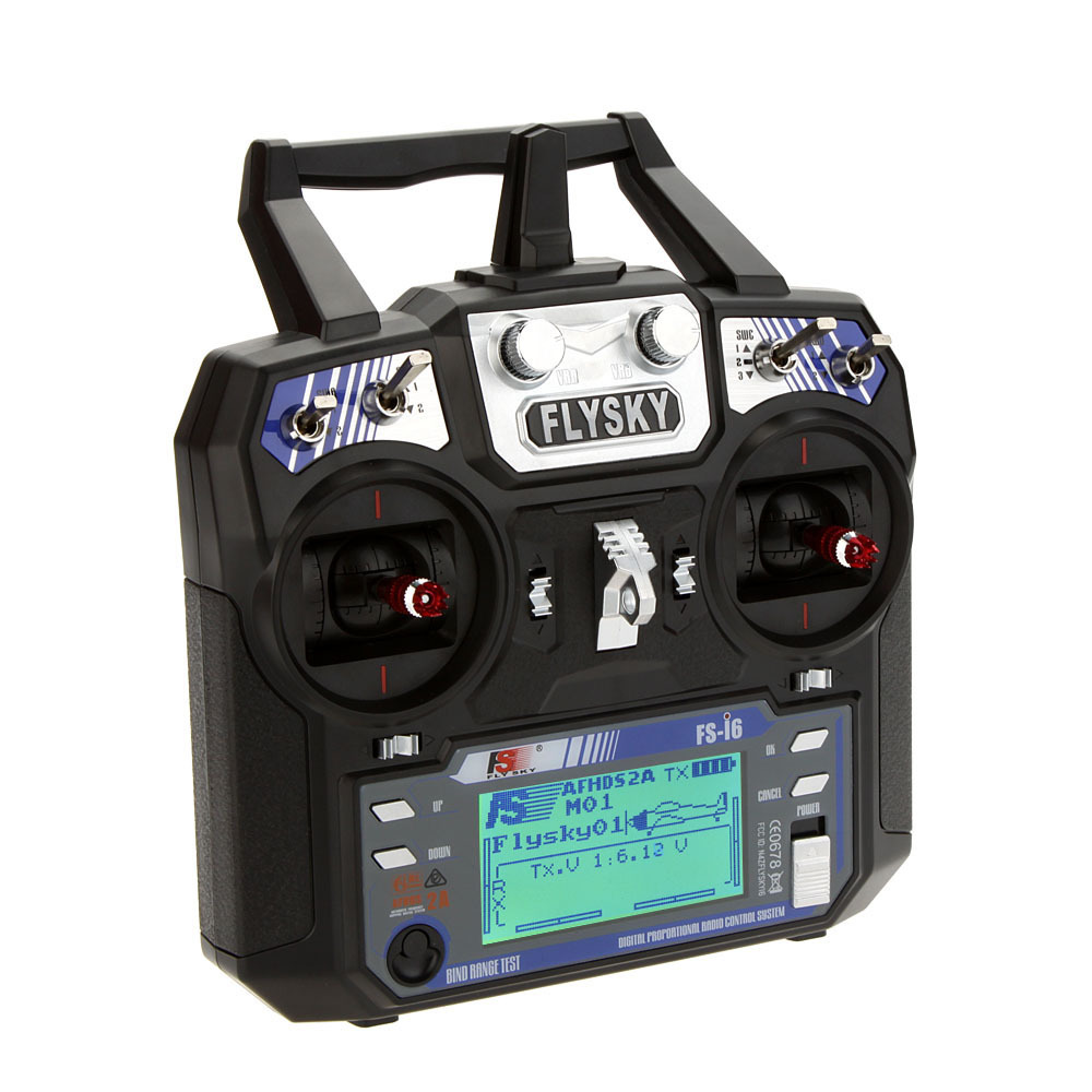 Flysky2 4GHz 6CH FS i6 AFHDS 2A Radio System Transmitter for RC drone Glider with FS
